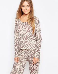 Свитер с тигриным принтом Sundry - Теплый серый