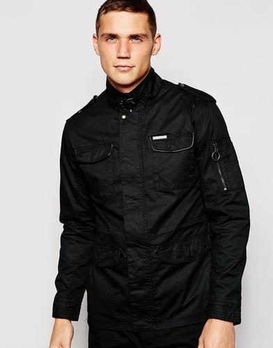 Куртка с покрытием и четырьмя карманами Ringspun - Черный