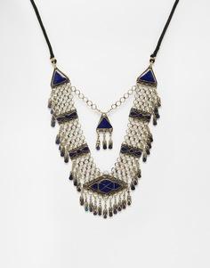 Броское ожерелье с подвесками Rock 'N Rose - Золотой