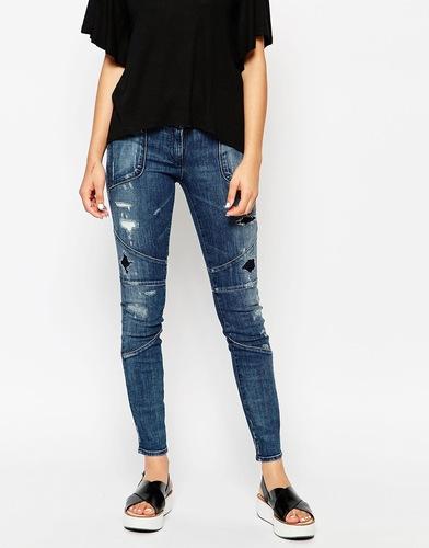 Рваные джинсы скинни с заниженной талией 3x1 - Towns