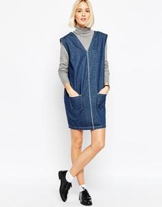 Джинсовое платье из селвидж‑денима ASOS WHITE - Синий