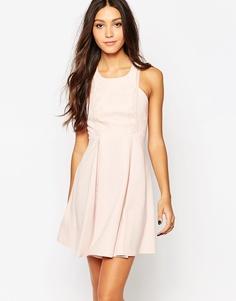 Свободное платье с кружевной вставкой BCBG Generation - Розовый
