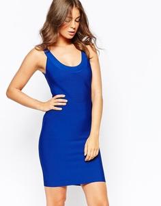 Синее облегающее платье BCBG MaxAzria Caspar - Синий