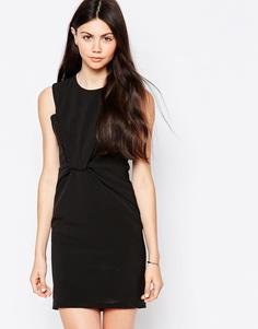 Цельнокройное платье без рукавов c узлом спереди By Zoe - Nuit