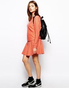 Оранжевая шерстяная мини-юбка BZR - Tiger lilly orange