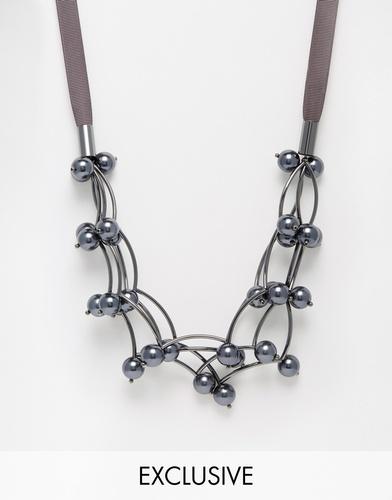 Ожерелье с искусственным жемчугом Coast Patience - Серый