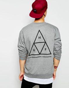 Свитшот с тремя треугольниками HUF - Серый