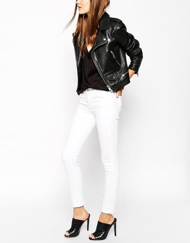Облегающие джинсы с классической талией J Brand 811 - Белый
