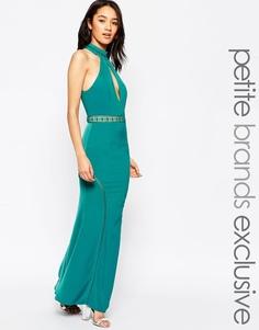 Платье макси с лифом халтер и вырезом-капелькой спереди Jarlo Petite