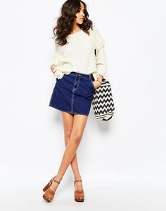 Джинсовая юбка-трапеция Mih Jeans Eques - Синий
