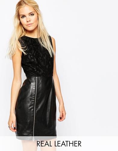 Кожаное платье Muubaa Mundal Jaguar - Черный