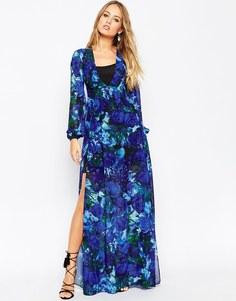 Платье макси с цветочным принтом и рукавами-колокол Needle & Thread En