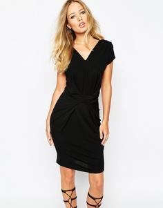 Облегающее платье со сборками Supertrash Dunster - Черный