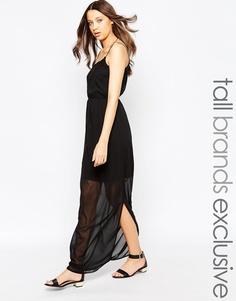 Vero Moda Tall Side Split Maxi Dress - Черный