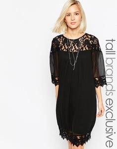 Платье с отделкой кроше Vero Moda Tall - Черный