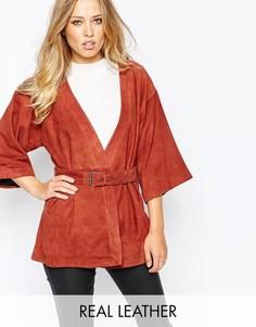 Замшевая куртка Y.A.S Lovely - Arabien spice