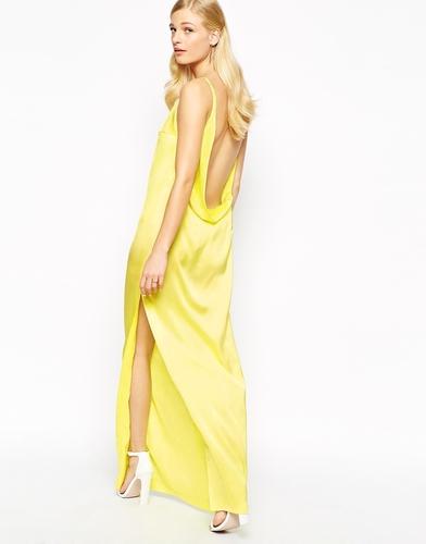 Платье макси с глубоким вырезом Solace London Rosario - Желтый