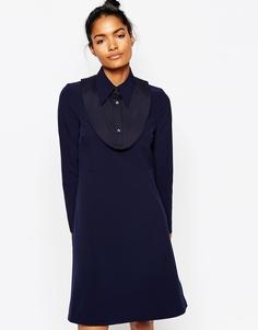 Платье с воротником Wood Wood Anita - Темно-синий