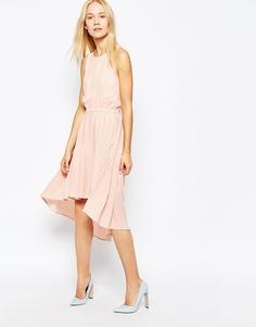 Жоржетовое платье в складку Pop CpH - Роза