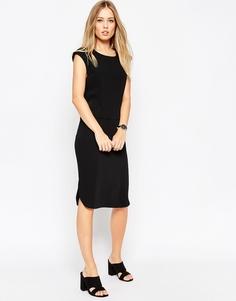 Цельнокройное платье-футляр с драпированной спинкой ASOS - Черный