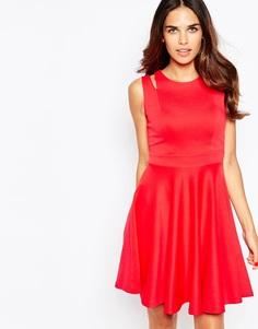 Короткое приталенное платье Jessica Wright Amelie - Deep red scuba