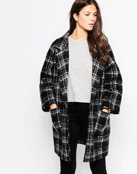 Клетчатое пальто Ganni