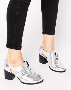 Туфли на каблуке ASOS OPPOSITE - Серебряный