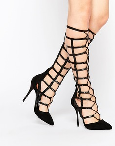 Туфли на каблуке с ремешками ниже колена Carvela Grip - Черный