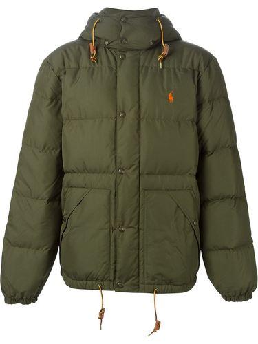 Куртка пуховик с капюшоном polo ralph lauren polo ralph lauren polo shirt