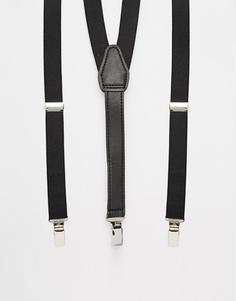 Черные винтажные подтяжки ASOS - Черный
