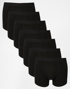 ASOS 7 Pack Trunks In Black SAVE 31% - Черный