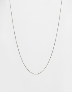 ASOS Rope Necklace - Серебряный