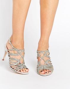 Серебристые сандалии с ремешками Faith Luther - Серебряный