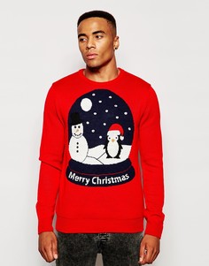 Рождественский джемпер с подсветкой Threadbare - Красный