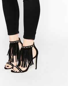 Сандалии на каблуке ASOS HOWDY - Черный