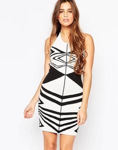 Облегающее платье с геометрическим дизайном Adelyn Rae