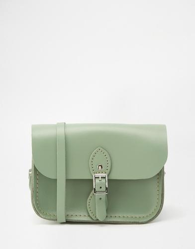 Зеленая кожаная сумка The Cambridge Satchel Company - Зеленый плющ
