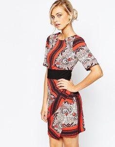 Платье с запахом спереди и поясом оби Closet