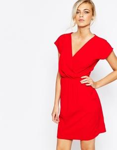 Платье-футляр 2 в 1 с запахом спереди Closet - Красный