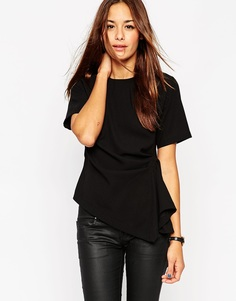 Структурированная футболка в стиле оригами ASOS - Черный