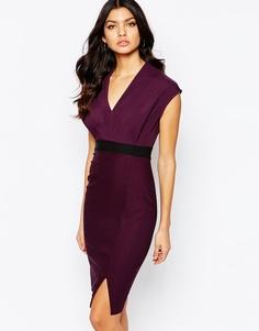 Платье миди 2 в 1 с короткими рукавами Vesper - Mystic purple