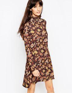 Платье с воротником поло и принтом пейсли ASOS - Мульти