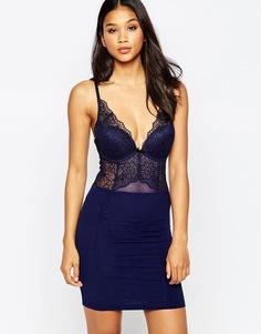 Платье-сорочка с графическим цветочным принтом Gossard