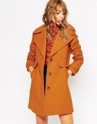 Пальто с воротником в стиле 70‑х ASOS - Рыжий