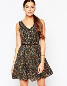 Платье с цветочным принтом Adelyn Rae - Зеленый