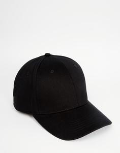 Черная бейсболка ASOS - Черный