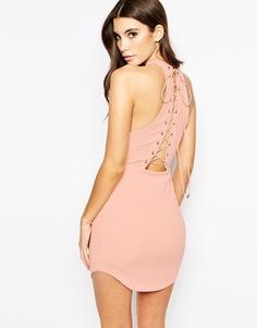 Облегающее платье со шнуровкой сзади Ginger Fizz - Mink