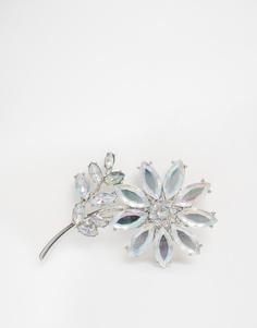 ASOS Crystal Floral Brooch - Crystal
