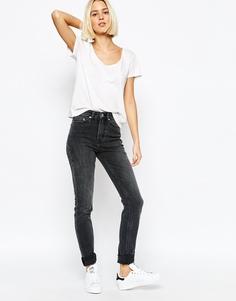 Узкие джинсы с завышенной талией Weekday Thursday - Screen black