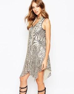 Платье с серебристыми пайетками Anna Sui Celestial - Silver multi